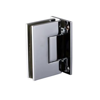 Shower door hinge - Glass to Wall NHSH201SQ - Brass hinge